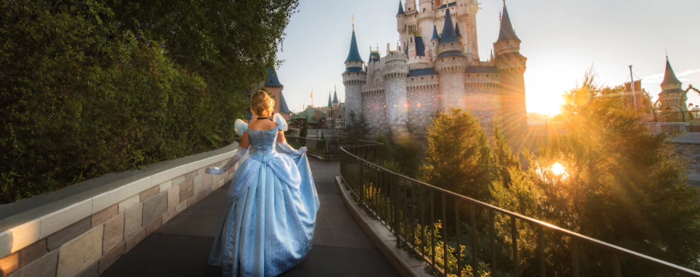 Cinderella and Castle at Disney World